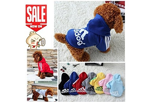 Pet Dog Clothes Autumn Winter Hoodie Coat Jumpsuit Sweater Adidog Clothing for Large Dogs Medium Small XS S M L XL XXL (color: Yellow,size: M) von Qiao Niuniu