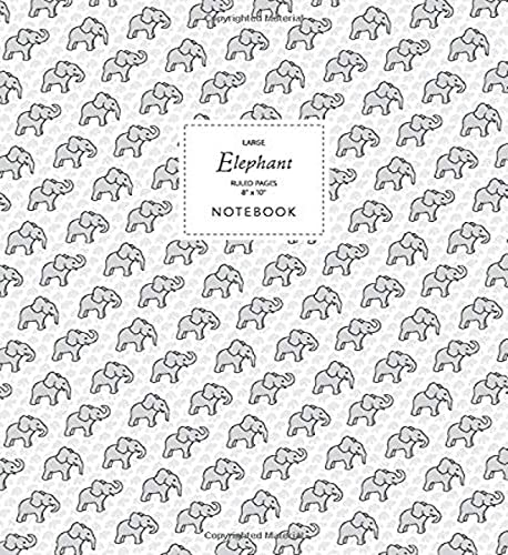 Elephant Notebook - Ruled Pages - 8x10 Notizbuch - Large (White) von Quick Witted Coconut