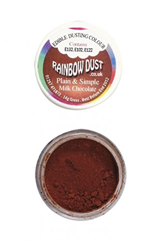 Rainbow Dust Plain and Simple Dust Colouring - Milk Chocolate von Rainbow Dust