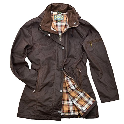 Damen-Wachsjacke New Ashdown, braun, Gr. S von Romneys