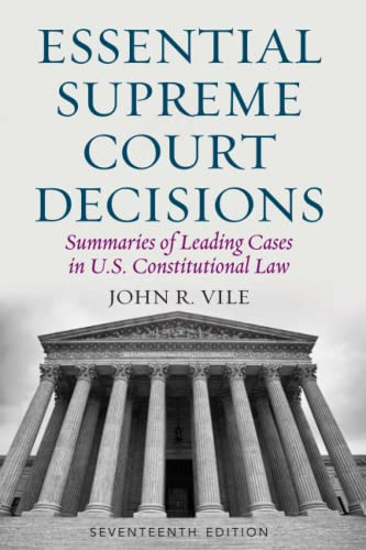 Essential Supreme Court Decisions von Rowman & Littlefield Publishers
