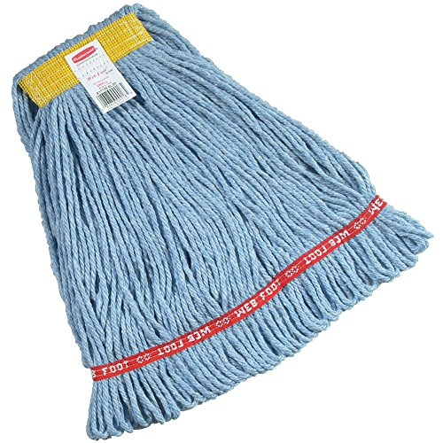 Rubbermaid Commercial 1 inch Small Headband Web Foot Wet Mop - Blue von Rubbermaid Commercial Products