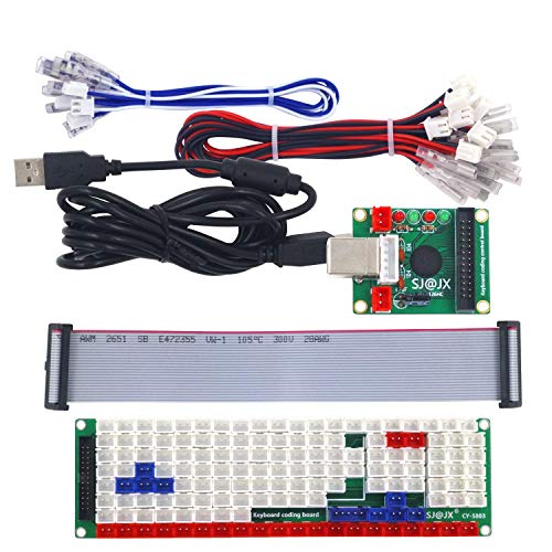 SJ@JX Development Keyboard Encoder Board Game Controller DIY LED Keyboard Development Board Media Music USB Encoder 104 Keys Arcade DIY Kit von SJ@JX