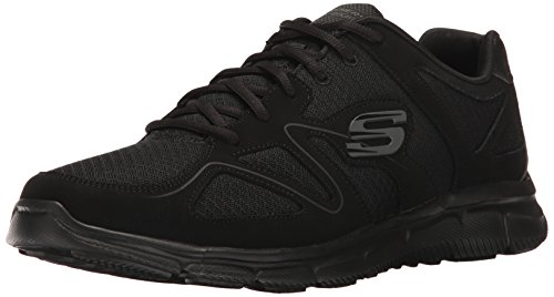 Skechers Herren Satisfaction 58350-BBK Sneaker Schwarz (Black), 45 EU von Skechers