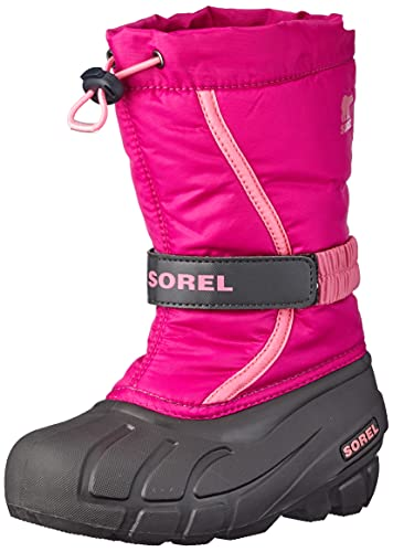 Sorel Unisex-Kinder Childrens Flurry Schneestiefel, Rosa (Deep Blush/Tropic Pink), 28 EU von Sorel