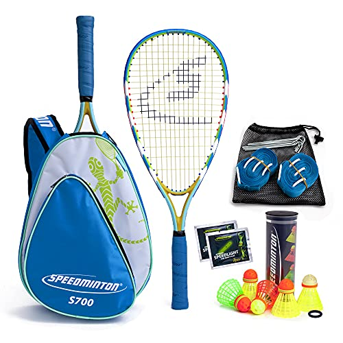 Speedminton® S700 Set - Original Speed Badminton/Crossminton Allround Set inkl. 5 Speeder®, Spielfeld, Tasche von Speedminton