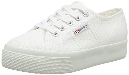 Superga 2790-Leapatentw, Baskets Femme, Nero (Black 999), 41 EU