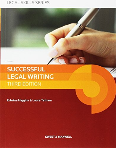 Successful Legal Writing (Latest Edition 2015) von Sweet & Maxwell Ltd