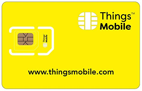 Sim Card Things Mobile Prepaid-IOT und M2 M mit Abdeckung globalen Ohne Festen Kosten. Ideal für Haustechnik, GPS Tracker, Telemetrie, Alarme, Smart City, Automotive. Kredit Nicht Enthalten. von Things Mobile