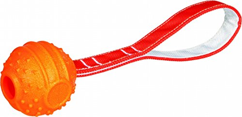 Trixie 33517 Soft & Strong Ball am Seil, TPR, durchmesser 7 cm/29 cm, orange von Trixie