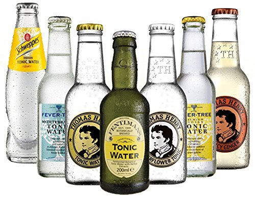 Tonic Set Schweppes, Fever Tree Mediterranean und Premium Indian, Fentimans, Thomas Henry Tonic und Elderflower (6 x 0.2 l) mit Thomas Henry Spicy (1 x 0.2 l) von Unbekannt