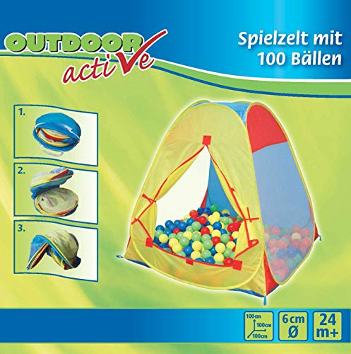 Outdoor active Zelt mit 100 Bällen von The Toy Company