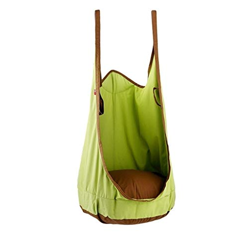 Green Canvas Schaukelsitz Indoor und Outdoor Cotton Swing kann 80kg tragen von Zlw-shop