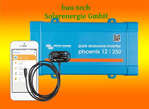 Spannungswandler Victron Phoenix 12V-250Watt VE.Direct reiner Sinus Inverter inklusiv Victron Bluetooth Smart Dongle von bau-tech Solarenergie GmbH von bau-tech Solarenergie