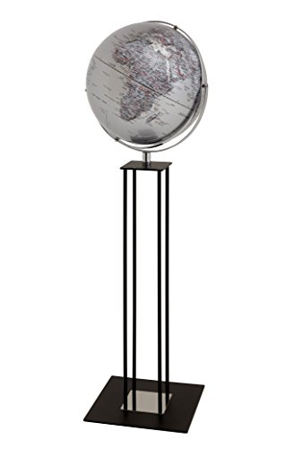 emform Standglobus Worldtrophy Silver Night, Metall & Kunststoff, 430 x 1320 mm von emform