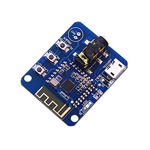 JDY-64 Lossless Bluetooth Audio Module Bluetooth V4.2 with Bottom Plate Wireless Module HIFI Audio Bluetooth Receiver Module Bluetooth Amplifier Board Transmission Distance 15m, Support Button Control von iHaospace