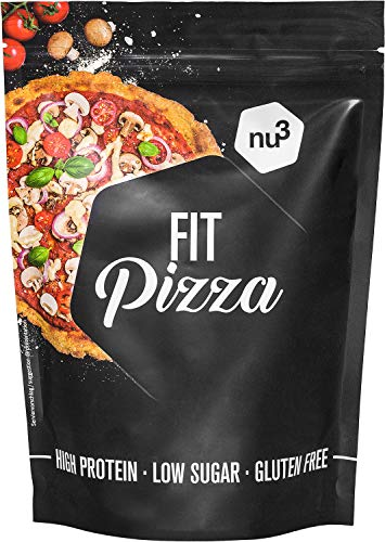 nu3 Fit Low Carb Pizza | 270g Backmischung ohne Hefe | High Protein Pizza dank Leinsamen- & Mandelmehl | nur 2 Gramm Kohlenhydrate pro Pizzaboden | Vegan | fast 15 Gramm Protein pro Pizza von nu3