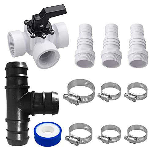 well2wellness® Pool Bypass Set 12-teilig für Solarheizung Pool (023919) von well2wellness